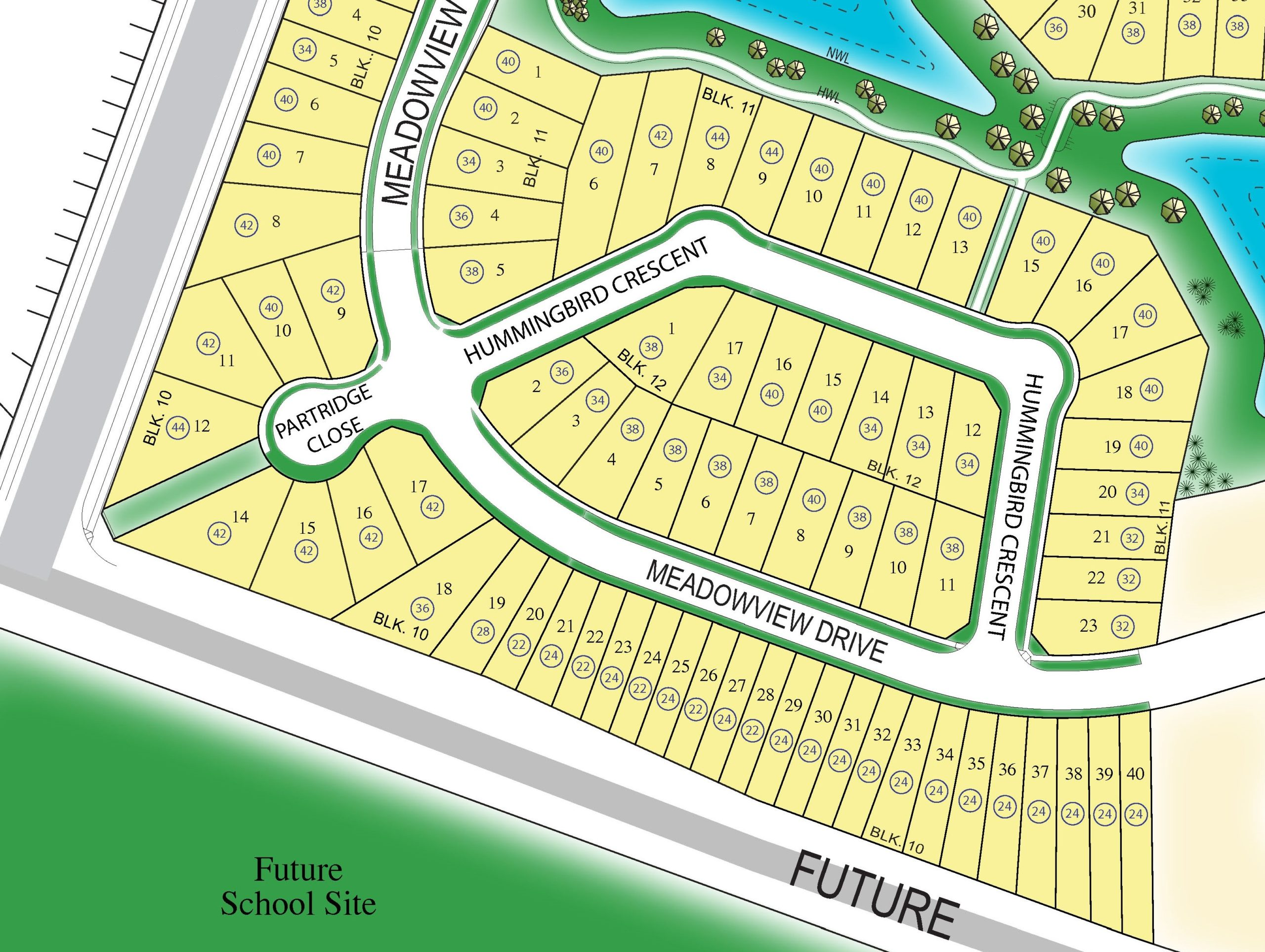 Lot Map Large Single Family (Stages 3B/7)