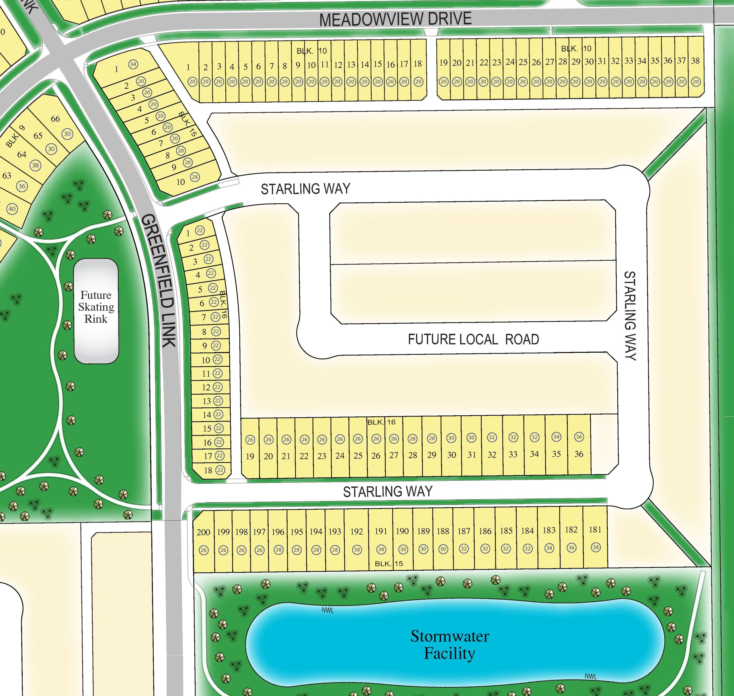 Lot Map Single Family & Duplex (Stage 5)
